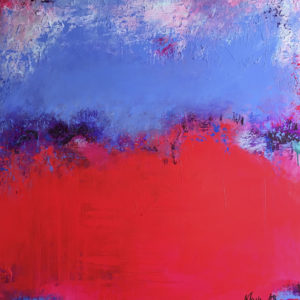 "Raspberry Blue, Size: 120×120 cm | 47×47"" Year: 2016"