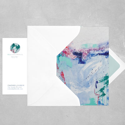 Abstract Postcard Azure Breeze
