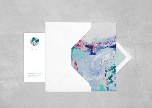 Abstract Postcard Azure Breeze