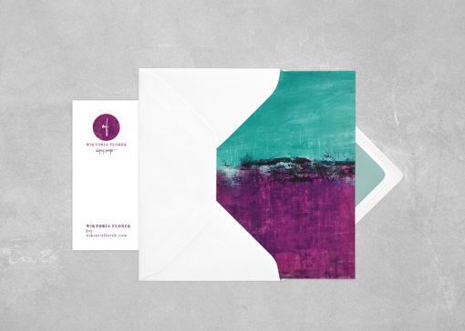"""Abstract postcard """"Joy"""""""