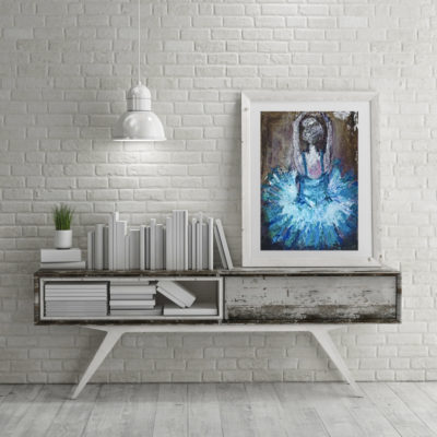 Limited Print Blue Ballet Dancer