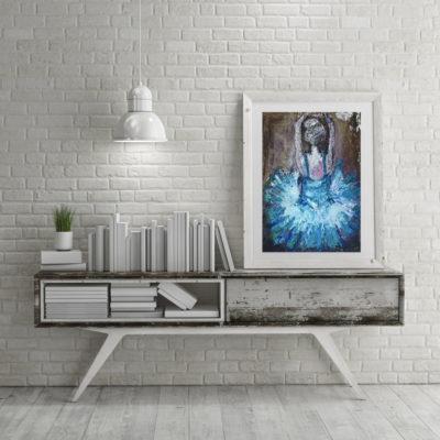 Limited Print Blue Ballet Dancer