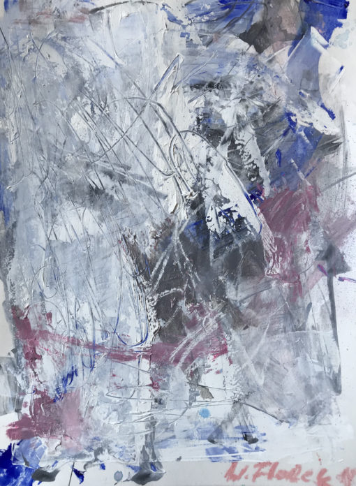"Abstract painting ""White Light no 1"""