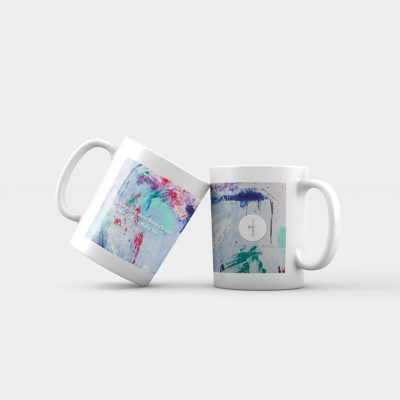 Azure Breeze Abstract Mug