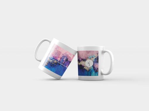 "Abstract mug ""Dreamy Sky"""