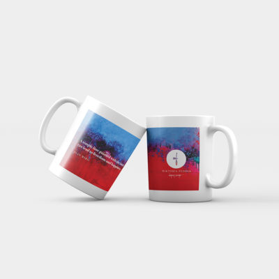 "Abstract mug ""Raspberry Blue"""
