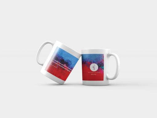 "Abstract mug ""Raspberry Blue"""