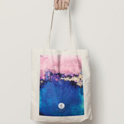 "Abstract Cotton Bag ""Dreamy Sky"""