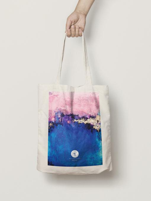 "Abstract Cotton Bag ""Dreamy Sky"""