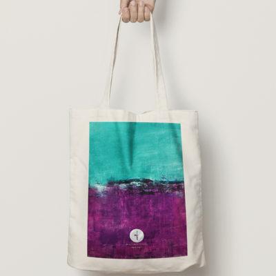 "Abstract cotton bag ""Joy"""