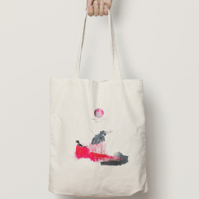 "Abstract Cotton Bag ""Love Story"""
