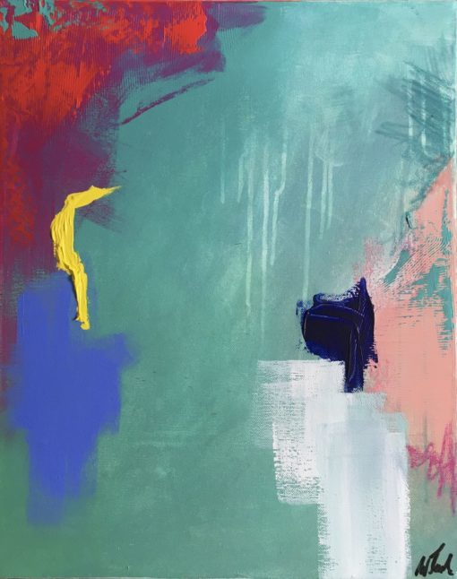 abstract painting, Antidotum, Wiktoria Florek