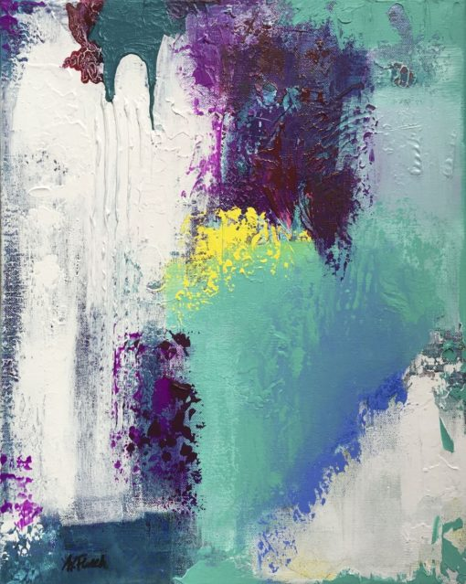 Beautiful Day, abstract painting, Wiktoria Florek
