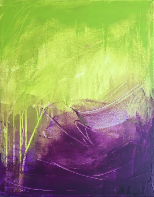Electric Dance, abstract painting, Wiktoria Florek