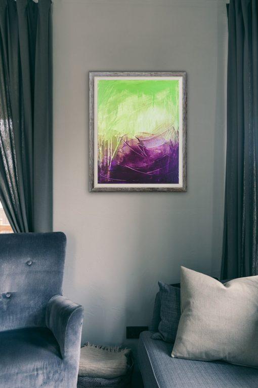 Electric Dance, abstract painting, Wiktoria Florek
