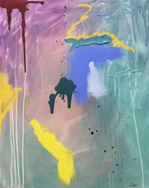 Flash, abstract painting, Wiktoria Florek