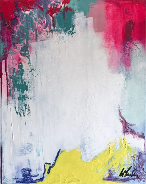 Hope, abstract painting, Wiktoria Florek