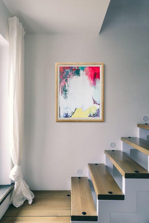 Hope, abstract painting, Wiktoria Florek
