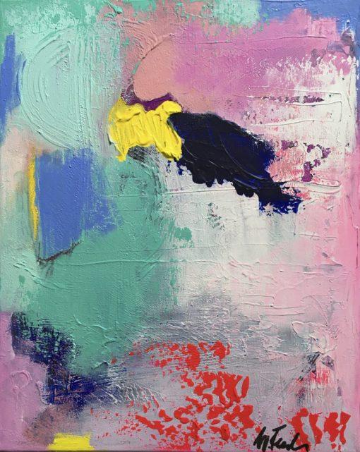 Jasmine, abstract painting, Wiktoria Florek