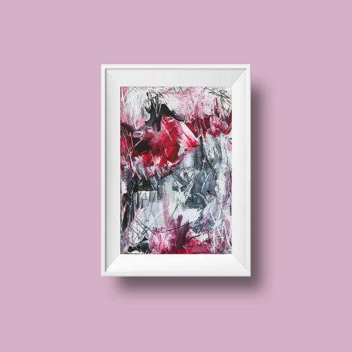 "Abstract painting ""Rosy"""