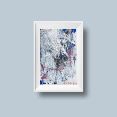 """Abstract painting """"White Light no 1"""""""