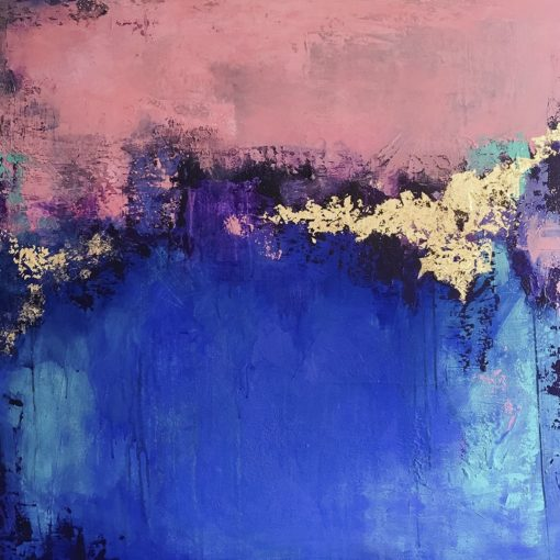 Dreamy Sky, abstract painting, Wiktoria Florek