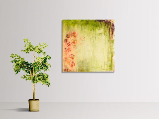 Summer Blossom, abstract painting by Wiktoria Florek
