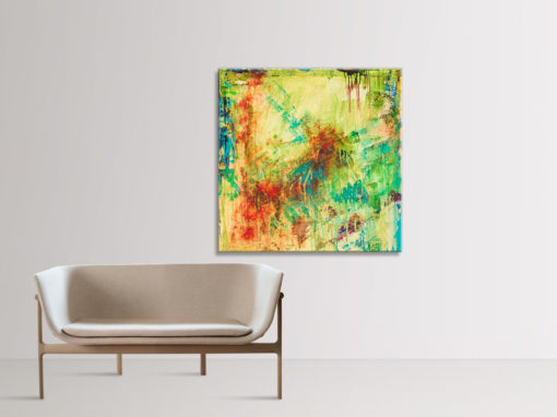 The Act of Appreciation, abstract painting by Wiktoria Florek