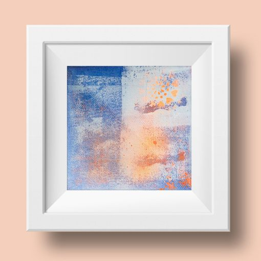 Orange no 2, abstract painting, Wiktoria Florek