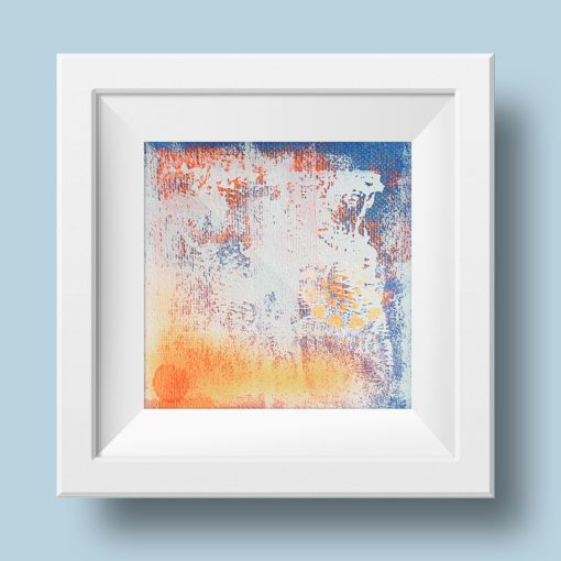 Orange no 1, abstract painting, Wiktoria Florek