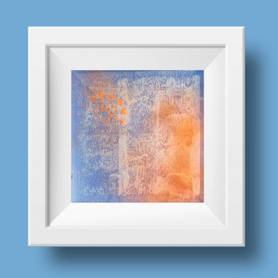 Orange no 3, abstract painting, Wiktoria Florek