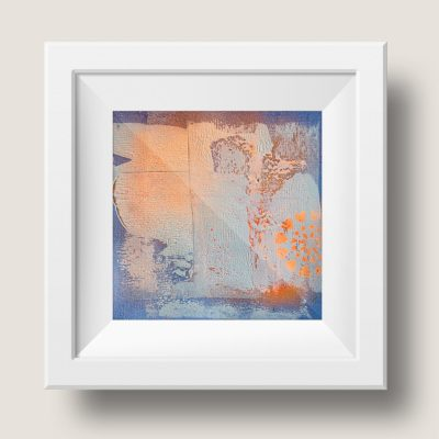 Orange no 4, abstract painting, Wiktoria Florek