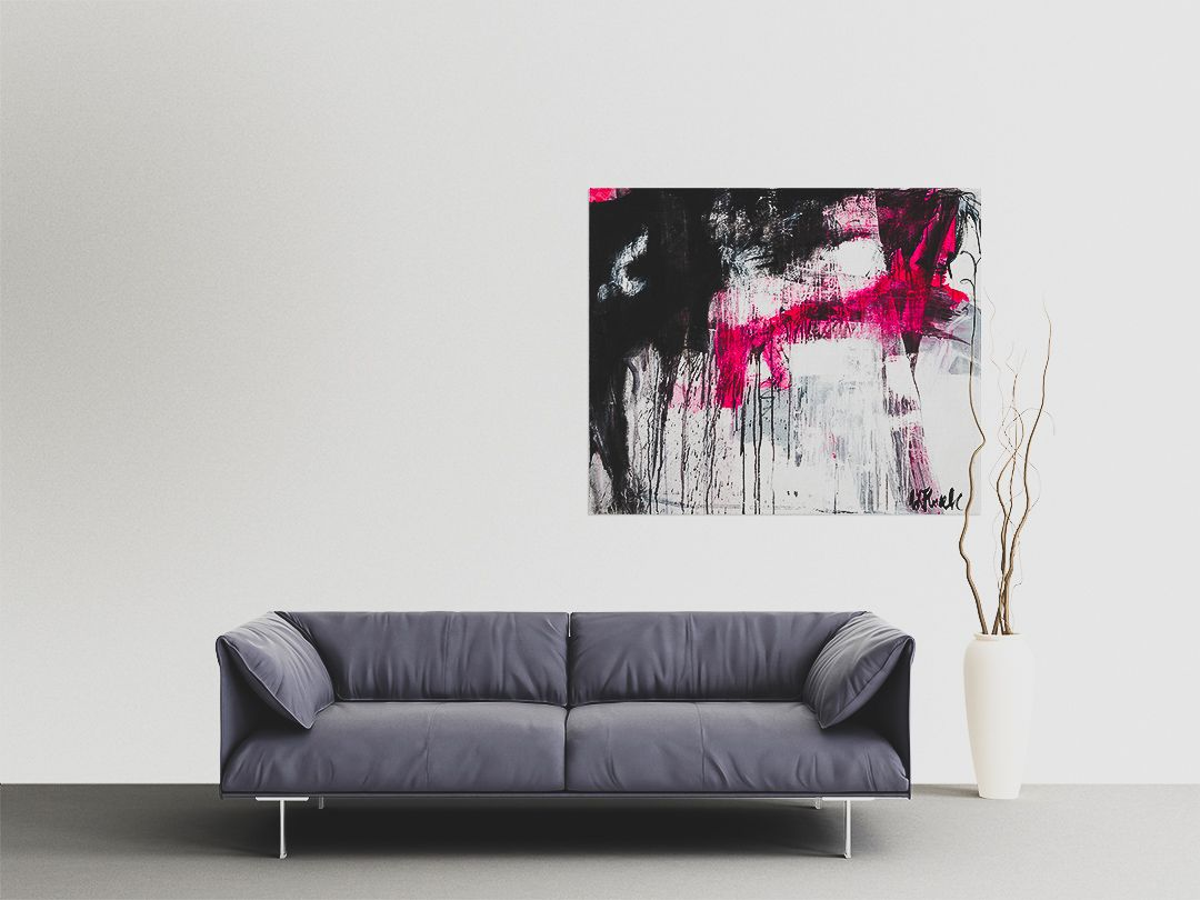 Love Story no 1, abstract painting, Wiktoria Florek