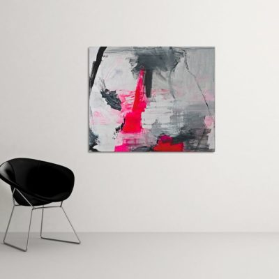 Love Story no 3, abstract painting, Wiktoria Florek