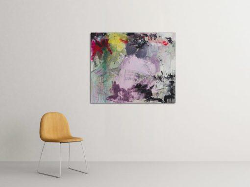 Walking in the rain, abstract painting, Wiktoria Florek