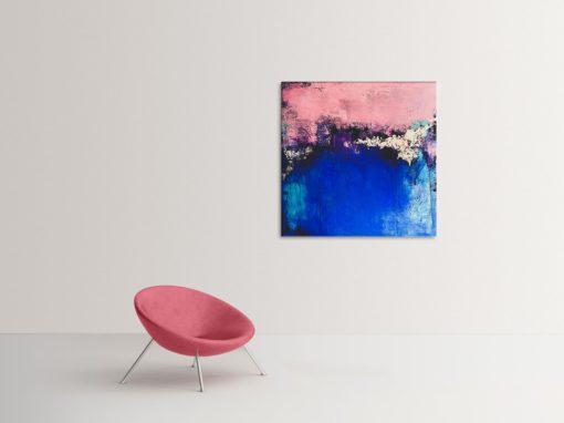 Dreamy Sky, abstract painting, Wiktoria Florek