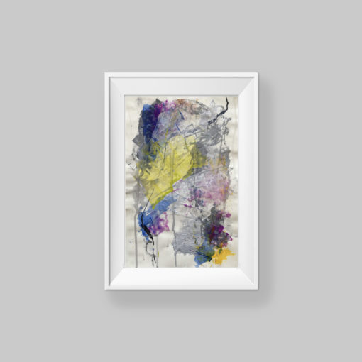 Love You no 1, abstract painting by Wiktoria Florek