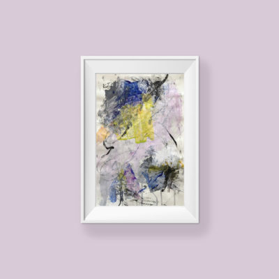 Love You no 2, abstract painting by Wiktoria Florek