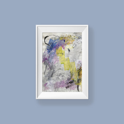 Love You no 3, abstract painting by Wiktoria Florek