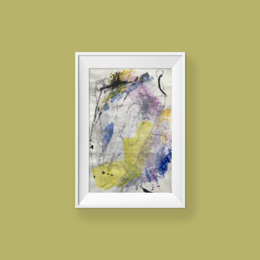 Love You no 4, abstract painting by Wiktoria Florek
