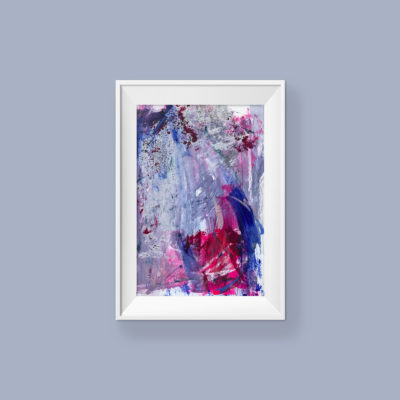 Untitled no 4, abstract painting by Wiktoria Florek