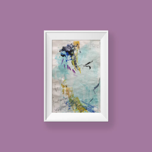 Loving Hug no 1, small abstract painting by Wiktoria Florek