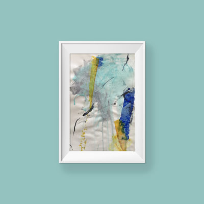 Loving Hug no 2, small abstract painting by Wiktoria Florek
