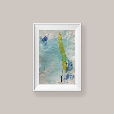 Loving Hug no 3, small abstract painting by Wiktoria Florek
