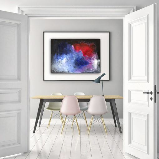 Stormy, moody abstract painting by Wiktoria Florek