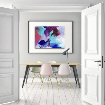Waterfalls of joy, joyful abstract painting by Wiktoria Florek