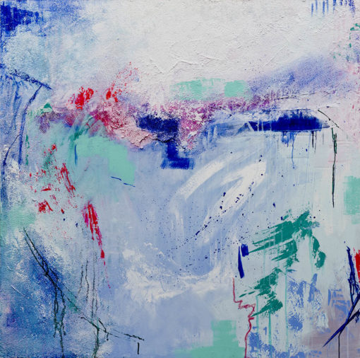 """""""The Azure Breeze"""", fun abstract painting by Wiktoria Florek"""