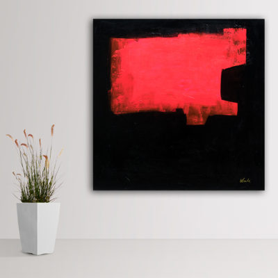 """The Elegance"", large minimal abstract painting by Wiktoria Florek"