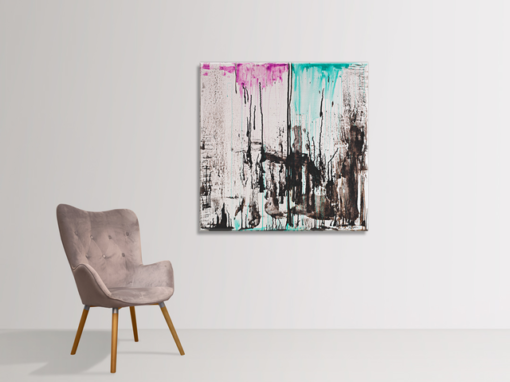 Action no 1, abstract painting Wiktoria Florek