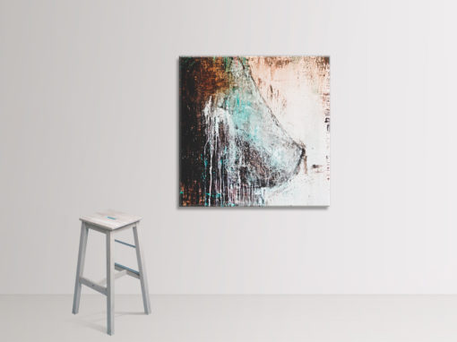Nude no 2, abstract nude painting by Wiktoria Florek